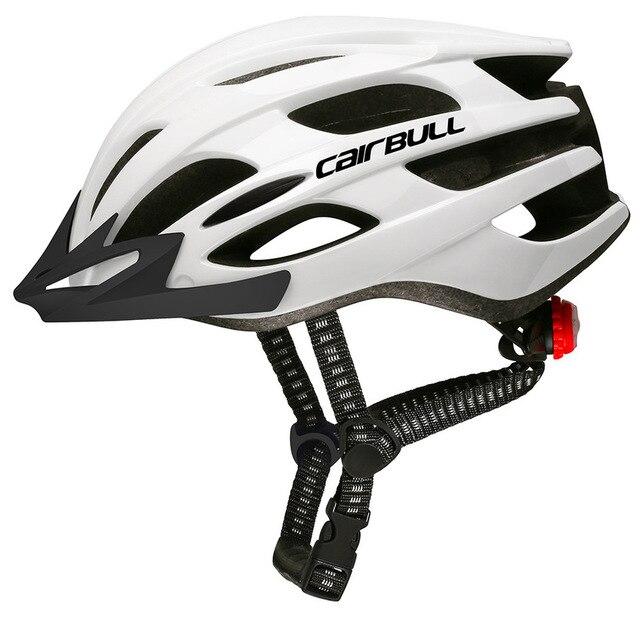 Ultraleve quente capacete de ciclismo com viseira removível óculos de bicicleta lanterna traseira intergrally-moldado mountain road bike mtb capacetes 5