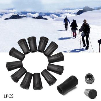 1Pcs 40mm Trekking Pole Tip Cover Feet For Hiking Poles Stick Anti-slip Protectors Smoothly Walking Go image