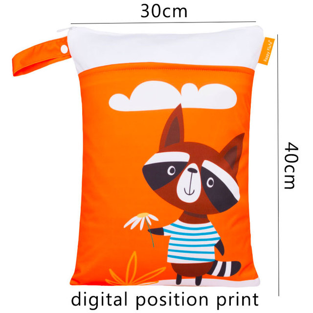 HappyFlute Digital Position Print Wetbag Reusable Waterproof Fashion Prints Wet Dry Diaper Bag With Handle Wetbags 30*40CM | Happy Baby Mama