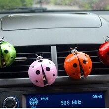 Auto-Perfume-Diffuser Ladybug Car-Accessories Aroma-Decor Air-Vent-Clip Flavoring Cute