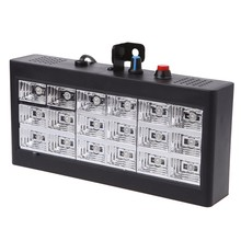 Sound Music Control 18W Rgb Led Stage Effect Lighting Dj Party Show Strobe Disco Light 220V Ac 110V (Eu Plug)(China)