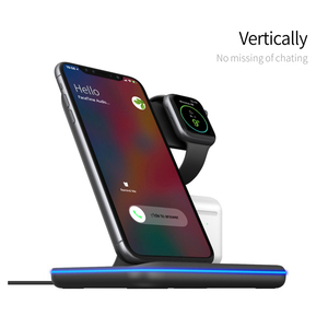 Image 2 - Wireless Charger Stand 3 in 1 Qi 15W Fast Charging Dock Station for Apple Watch iWatch 5 4 3 AirPods Pro For iPhone 11 XS XR X 8