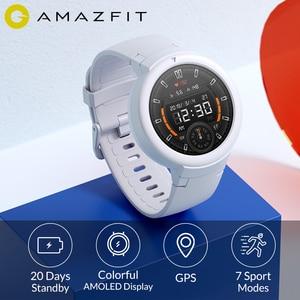 Image 1 - הכי חדש Amazfit סף לייט 20 ימים ארוך המתנה חכם שעון 390mAh IP68 עמיד למים 1.3 אינץ AMOLED מסך קצב לב שעון GPS