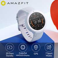 Najnowszy Amazfit Verge Lite 20 dni długi czas czuwania inteligentny zegarek 390mAh IP68 wodoodporny 1.3 calowy ekran amoled zegarek mierzący uderzenia serca GPS