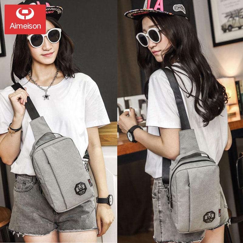 New men\'s chest bag casual messenger bag sports pouch female waist bag shoulder bag men bag tide bag AXB013