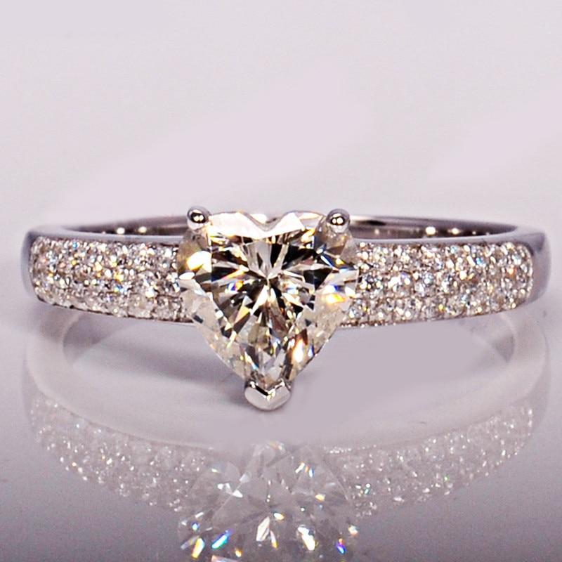 Heart Rings For Women Bridal Wedding Fashion Jewelry Engagement Ring Cubic Zirconia Elegant Anel Bijoux Femme CC048 2