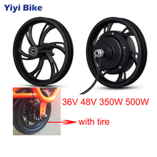 12inch Electric Bike 36V 48V 350W 500W Wheel Hub Motor Front Rear Motor Wheel For Scooter High Speed  Adult Electric Scooter Tax 12 350w 36v electric brushless hub motor electric scooter motor kit e scooter motor for xiaomi scooter
