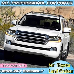 Image 5 - Accesorios de coche faros LED para Toyota Land Cruiser 17 19 para faro LED DRL lente doble haz H7 lente HID Xenon bi xenon