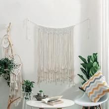 Macrame Wall Hanging 107 x 75cm Cotton Handmade Woven Wall Tapestry Large Boho Wedding Backdrop Wall Decoration for Living