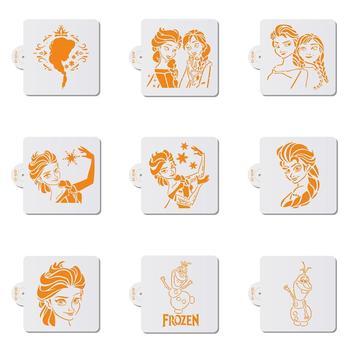 цена на 1pc Cartoon Princess Girl Cookies Stencil Coffee Stencils Wedding Plastic Cake Stencil Cake Template Decorating Tool Bakeware