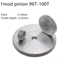 Gear-Rack Spur-Gear Teeth Pinion MOD1 Cylindrical 10mm 96 No-Hardened-Thickness