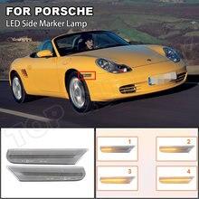 2 stück Dynamische LED Seite Marker Licht Für Porsche Boxster 986 97-04 911 Coupe Cabrio Targa (996) 01-05 Blinker Licht