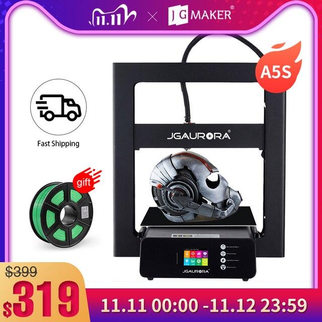 JGMAKER A5S 3D מדפסת מתכת מסגרת 305*305*320mm הדפסת עם SD כרטיס משודרג כוח אספקת JGAURORA