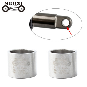 MUQZI Mountain Bike Shock Absorbers DU Bushing 12.7*15*12.7mm Bicycle Stainless Steel Suspension Back Gall Shaft Sleeve