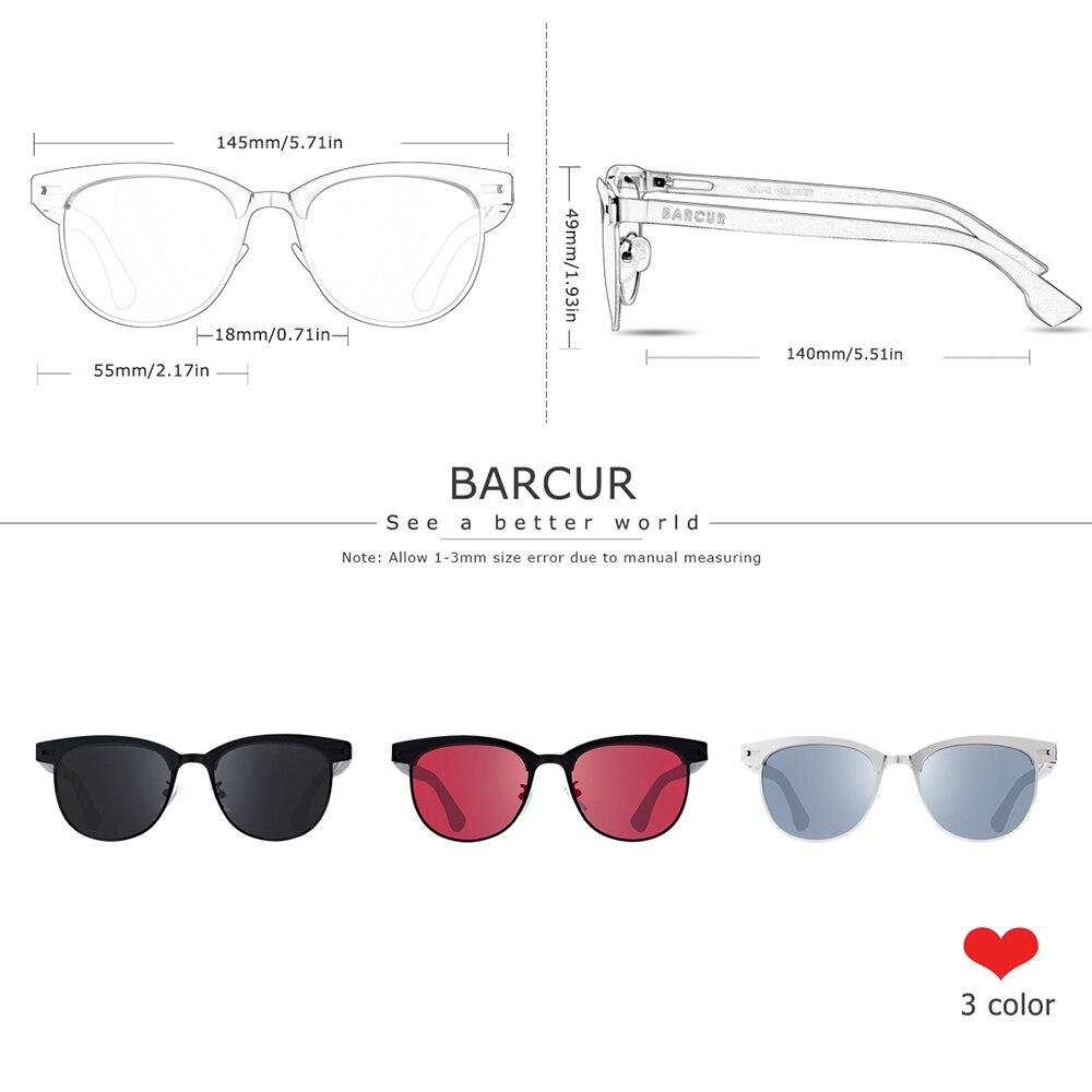 Солнцезащитные очки BARCUR для мужчин и женщин, поляризационные очки в деревянной оправе из нержавеющей стали