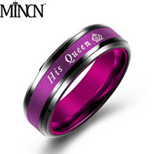 MINCN Men and Women Stainless Steel Jewelry Ring Titanium Fashion Bohemian Couple