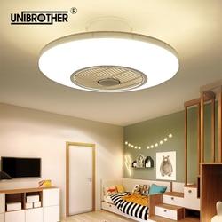 50cm led ceiling fan with light remotre control 110v 220v bedroom lamps children room home restaurant 40w three color changing