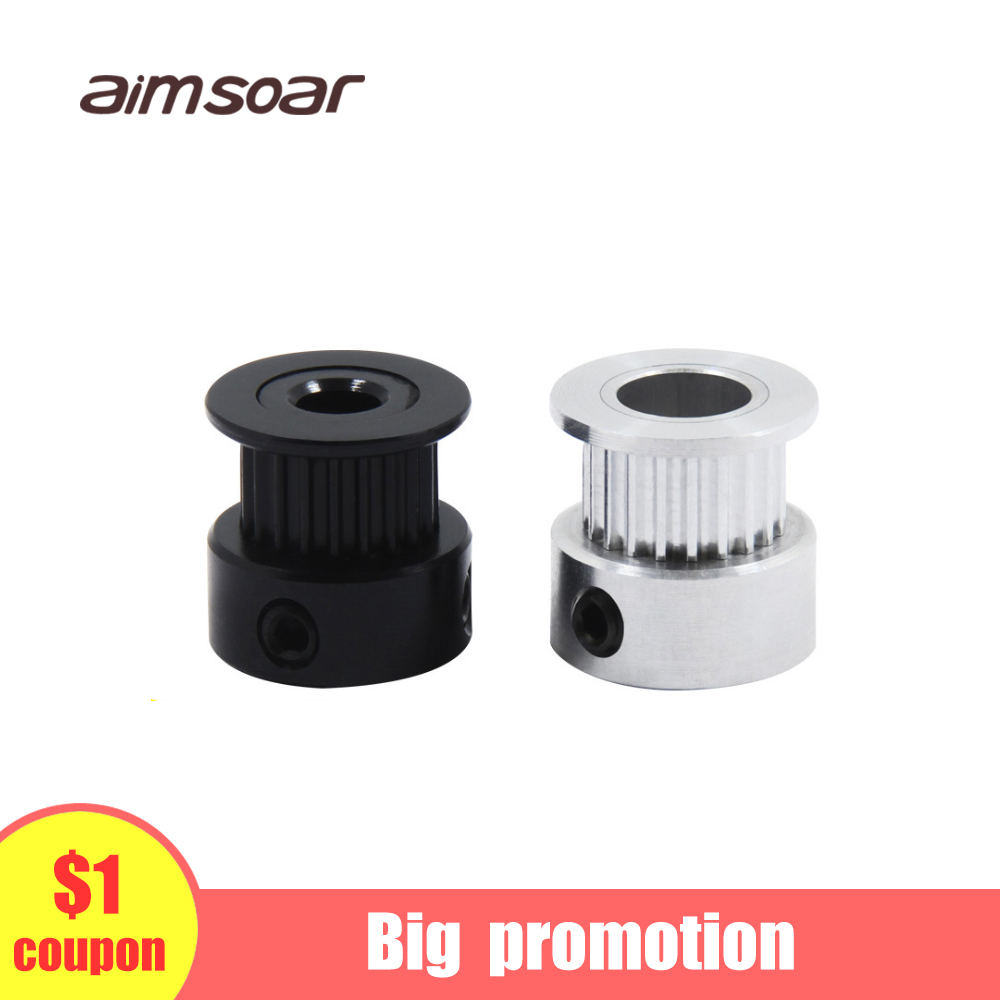 Gt2 Timing Belt Pulley 6mm Bandwidth Gt2 16 Tooth 20 Teeth Bore 5mm 6mm 6.35mm 8mm Inner Hole Diameter Pulley 3d Printer Parts