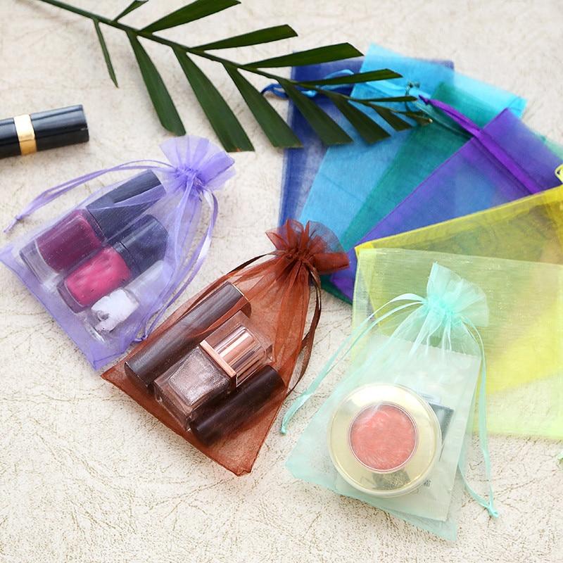 20pcs 7x9cm 9x12cm Transparent Organza Bags Christmas Halloween Gift Box Packaging Gift Bags Wedding Candy Box Chocolate Bags