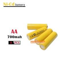 4 x AA 700mAh 1.2 V Quanlity akumulator NI-CD 1.2 V akumulator 2A Bateria baterie baterie 500 razy