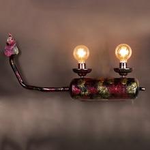 купить Vintage Simple Iron LED Wall Lamp Industrial  Bedroom Light Fixture Bedside Bar Restaurant Cafe Loft Decor Corridor Wall Light дешево
