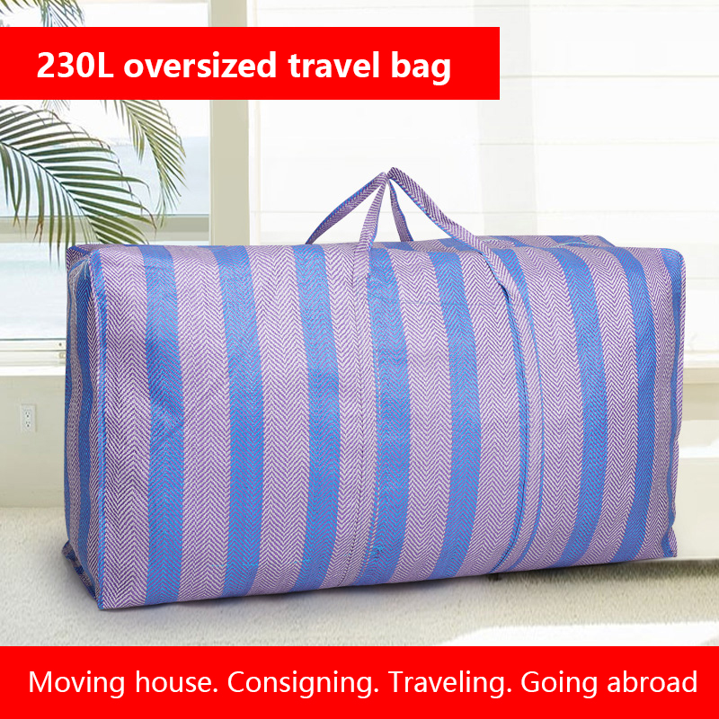 Extra Large Thickening Moving House Travel Bag Sack Luggage Woven Bag Waterproof 160L 230L Storage Sorting Bag
