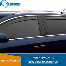 цена на Car door visor For HYUNDAI I30 2009-2012 Black Window Rain protector For HYUNDAI I30 2009 2010 2011 2012 Hatchback SUNZ