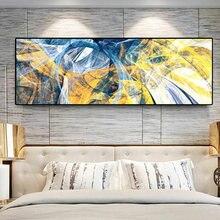 Абстрактная красочная Золотая синяя линия Скандинавская картина