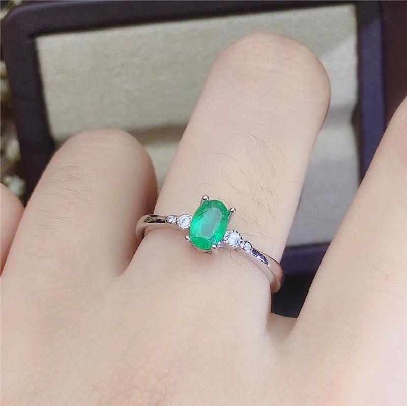 PROCOGEM 5A Natural Emerald jewelry sets for Women Lovely Key Fine Jewelery set Genuine Green Gemstones 925 Sterling silver #744 - 6