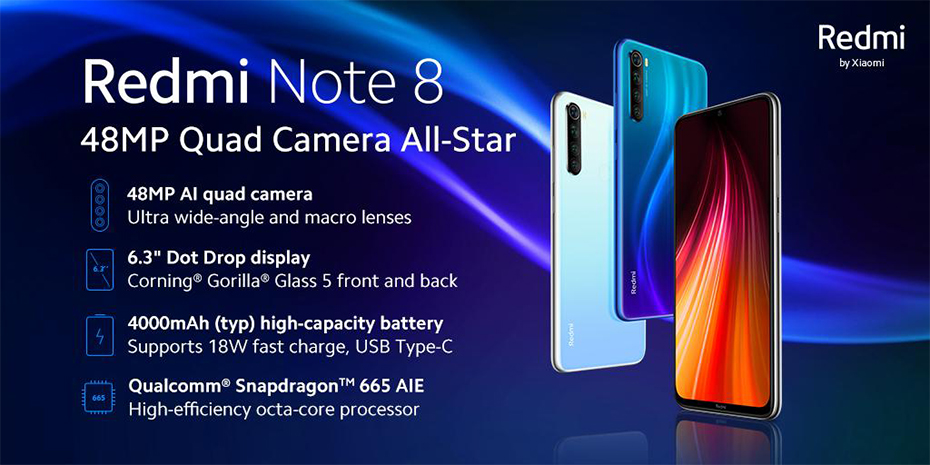 "H810b8f8bb8ad44aba12f230720068e2bY In stock Global ROM Xiaomi Redmi Note 8 4GB 64G 48MP Quad Camera Smartphone Snapdragon 665 Octa Core 6.3"" FHD Screen 4000mAh"