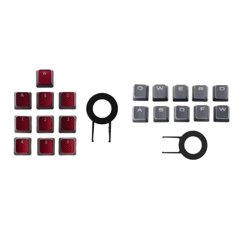 10 pieces of red/gray backlit keycap game keyboard keycap Corsair K70 K65 K95 G710 RGB STRAFE mechanical keyboard keycap(China)