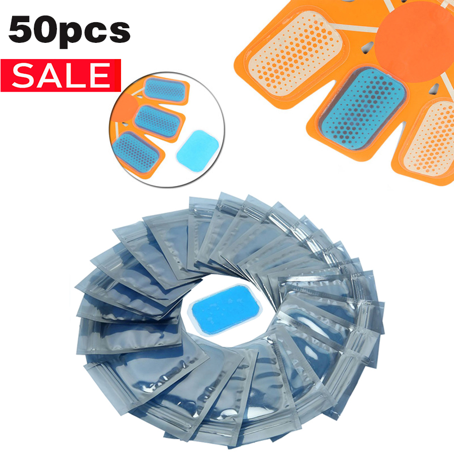 50 Pcs Gel Pads For EMS Hip Abdominal Trainer Massage Hydrogel Stickers Fitness For Abdomen Muscle Stimulator Replacement Patch