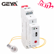 Freies Verschiffen GEYA GRB8 01 Dämmerung Schalter mit Sensor AC110V 240V Photoelektrische Timer Licht Sensor Relais