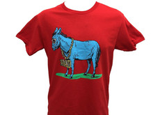 Donkey Bad Necklace Badass Funny Animal Lover Gift Men'S T Shirt S-Xl Large Size Tee Shirt(China)