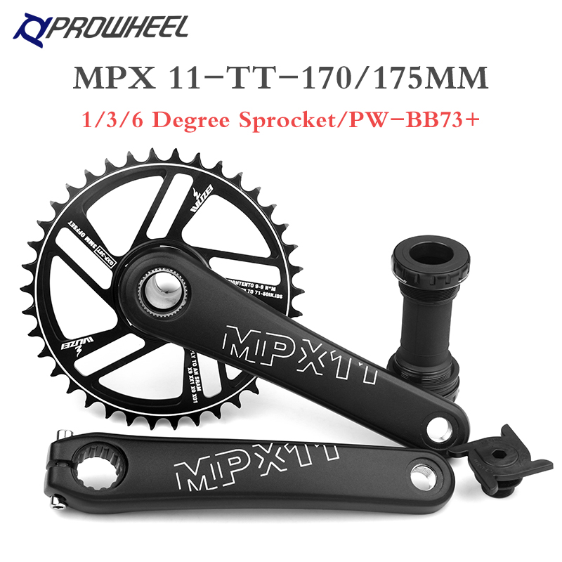 PROWHEEL Crankset 170MM 175MM Bicycle Chainring 30T 32T 34T 36T 38T 40T 42T Narrow Wide Bike MTB Sprocket For SRAM SHIMANO Deore