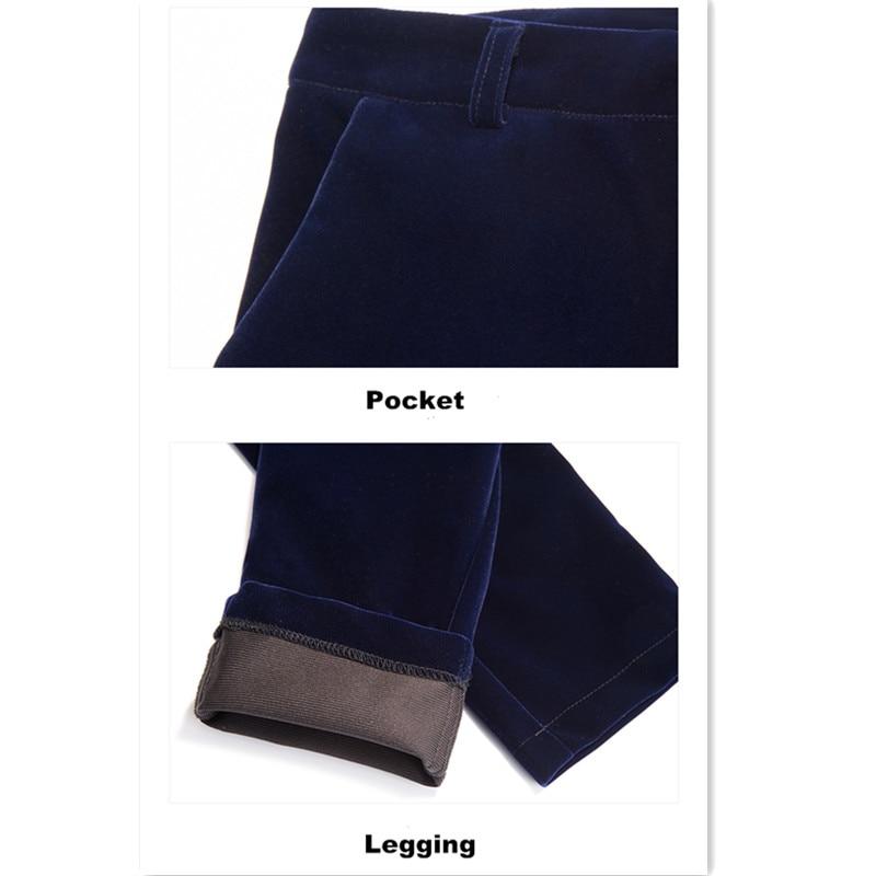 Winter Suit Woman Golden Velvet Warm Suit Pants Female New Fashion Two-Piece Jacket Blazer Trousers Set Ladies Suit 808125 44