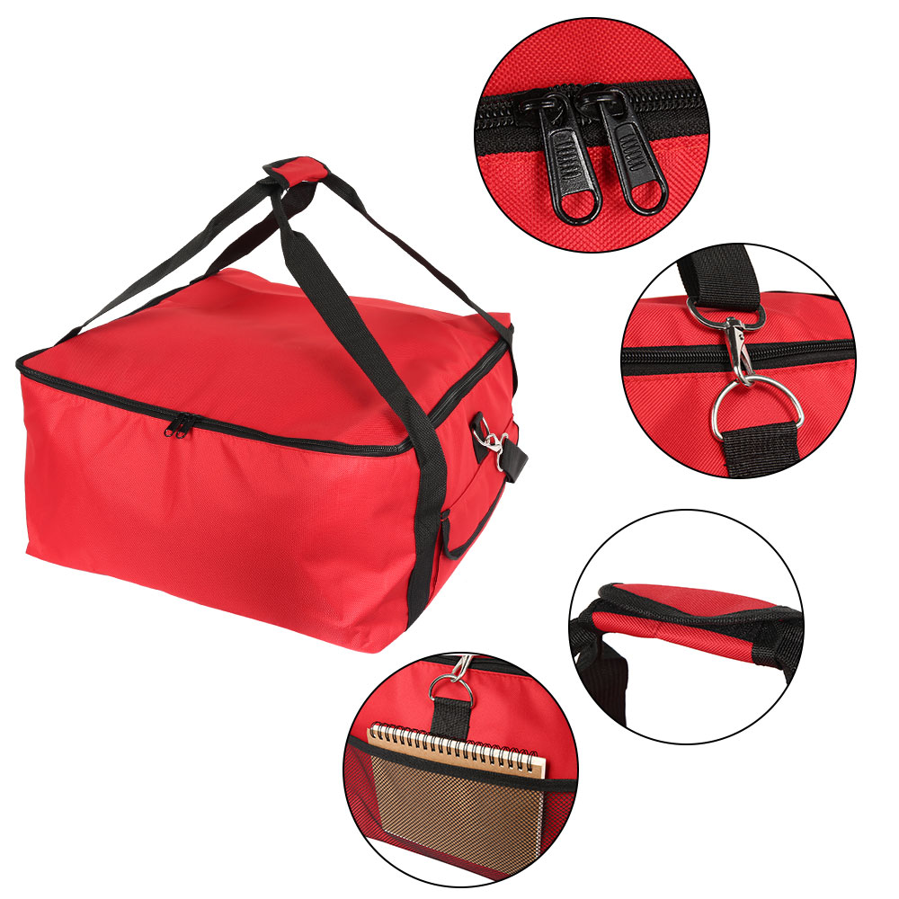16 Inch Insulated Pizza Bag Portable Cooler Bag Thermal Lunch Picnic Box Fresh Food Delivery Container Waterproof Insulated Bag