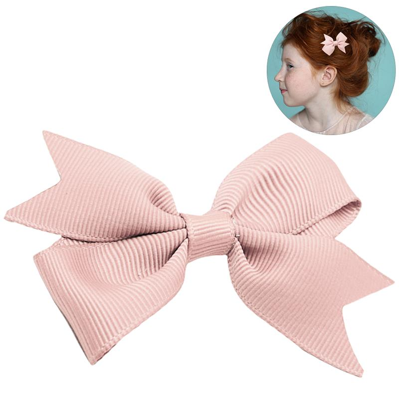 1Pc Kids Hair Clip Lovely Decorative Ribbon Bow Baby Hair Pin Baby Barrette Hair Accessories   Headwear   Dropshipping