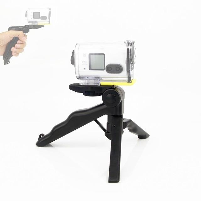 2in1 כף יד אחיזת מיני חצובה וstablizer עבור Sony Rx0 FdrX3000r As300 As200 As100 As50 As30 As20 As15 פעולה מצלמת אבזרים