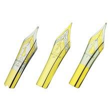 3 pces original kaigelu caneta caneta nibs #6 nib ouro ef f m tamanho compatível com jinhao 100, 450, asa sung 699, moonman t1, c1