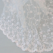 5yards Fashion Wedding Dress Lace Fabrics Embroidery Cloth Chantilly french guipure tulle white lace fabric wedding party dress