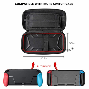Image 4 - IVYUEEN for NintendoSwitch NS Console Carrying Storage Bag Protector Shell + 8 Thumb Grips for Nitendo Switch Joy Con Joystick