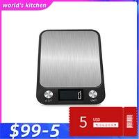 주방 규모 10 kg 1g 스테인레스 스틸 lcd 전자 주방 저울 균형 요리 측정 도구