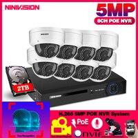 H.265 8CH 1080P 5MP POE NVR Kit AI Menschlichen Erkennung 5 0 MP POE IP Kamera Im Freien Wasserdichte P2P CCTV audio Video Überwachung Set-in Überwachungssystem aus Sicherheit und Schutz bei