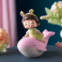 Nordic Home Ornament Girl's Heart Room Decoration Resin Decoration Cute Desktop Character Small Ornaments Birthday Gift недорого