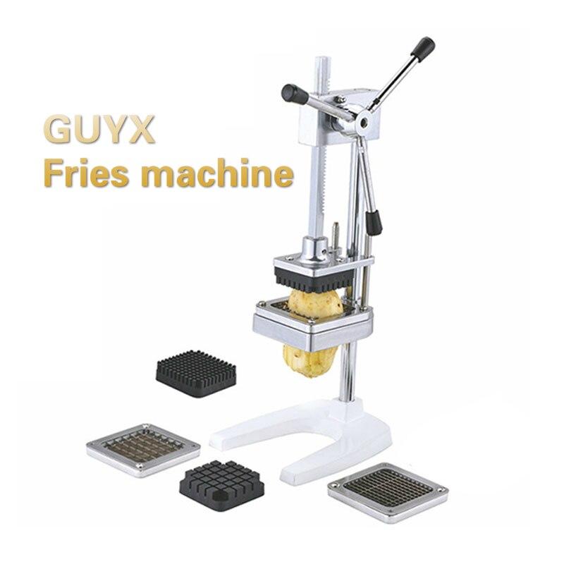 GUYX Коммерческая Вертикальная бытовая машина для картофеля фри из нержавеющей стали ручная машина для картофеля фри машина для резки картоф...