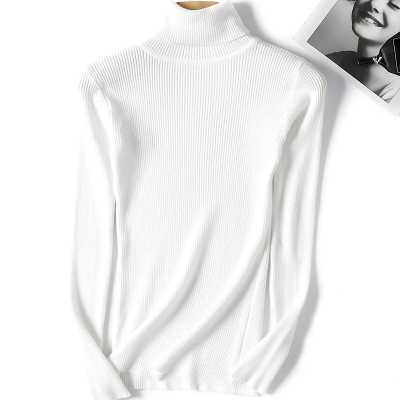 BlingGlri Womens Knit Turtleneck Sweater Warm Rib Pullover