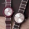 BOBO pájaro pareja relojes de madera hombres mujeres madera cuarzo amante reloj de pulsera hombre señoras cuarzo fino regalo erkek kol saati
