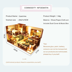 Image 3 - Cutebee DIY DollHouse Wooden Doll Houses Miniature Dollhouse Furniture Kit Toys for children New Year Christmas Gift  Casa M025