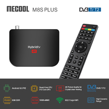 MECOOL M8S PLUS Android TV BOX DVB T2 Set top Box Android 9,0 4K Media Player Amlogic S905X2 Quad core 64 bit 2GB 16GB 2,4G WiFi